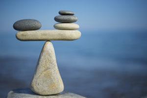 A pile of balanced rocks