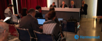 """Picture from the HERMENEUT 1st workshop """"Insurance in Cybersecurity"""""""