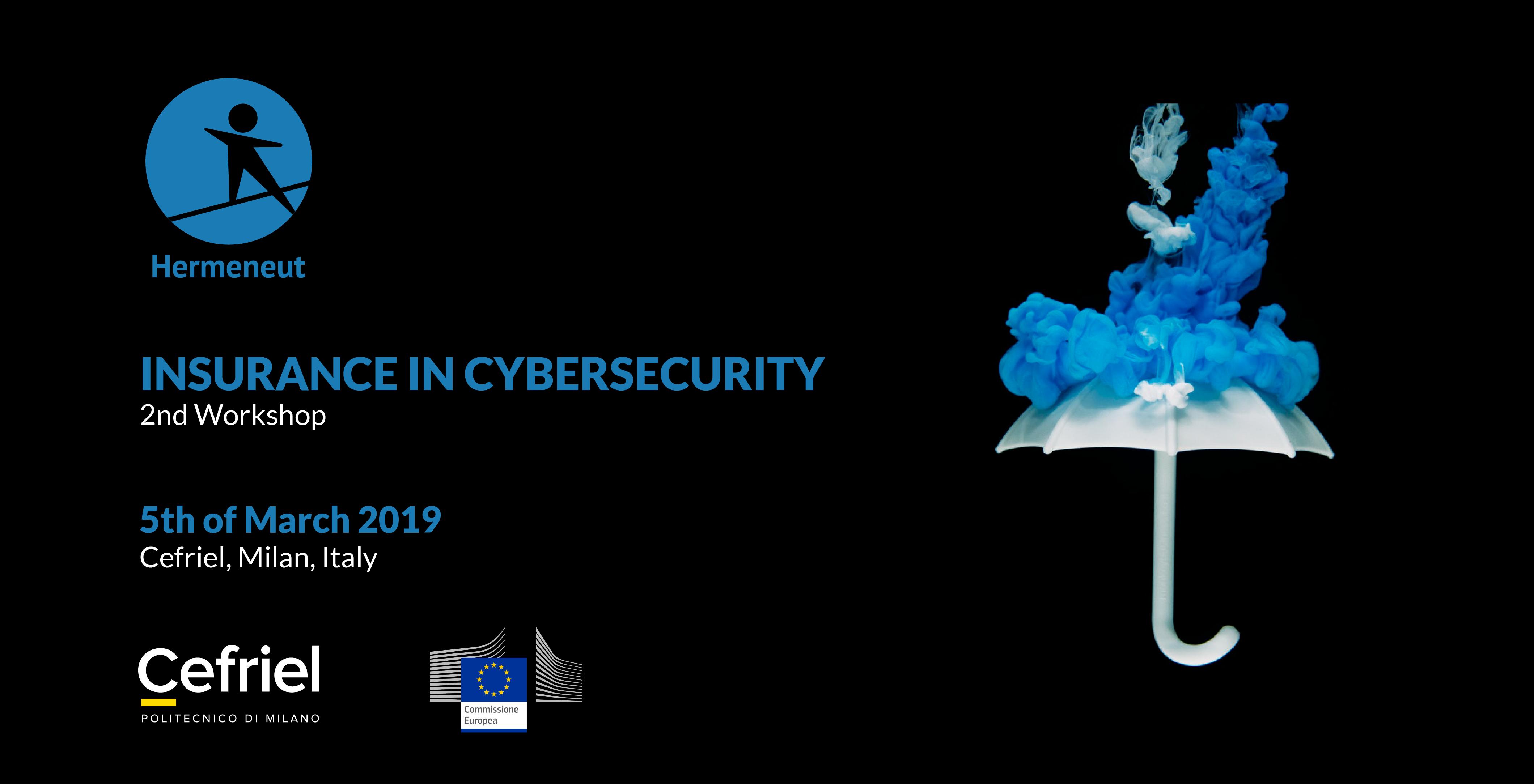 """HERMENEUT 2nd workshop """"Insurance in Cybersecurity"""""""